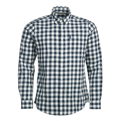 New 2020 Barbour Gingham 21 Tailored Shirt - Navy