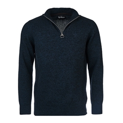 New 2020 Barbour Lambswool Half-Zip - Navy