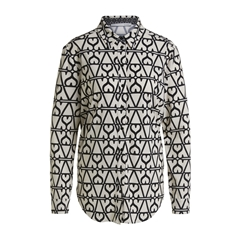 New 2020 Oui Graphic Pattern Shirt - White