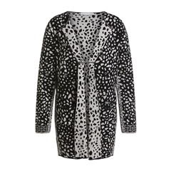 New 2020 Oui Cardigan with Dalmatian Print - Black