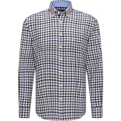 Fynch Hatton Supersoft Cotton Shirt - Amarena Emerald Check