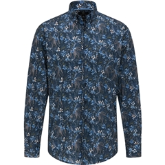 Fynch Hatton  Cotton Shirt - Navy Flower Print