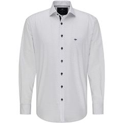 Fynch Hatton  Supersoft Cotton  Shirt - White Neat Flowers