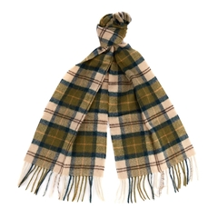 Barbour Unisex Lambswool Scarf - Green