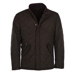 New 2021 Barbour Powell Quilted Jacket - Olive