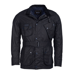 Barbour International Slim Wax - Navy
