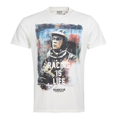 Barbour Intl Steve McQueen Racing T-Shirt - White