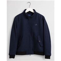 New 2021 Gant Wool Herrington Jacket - Navy