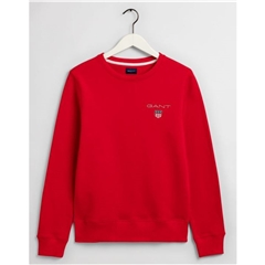 New 2020 Gant Medium Shield Crew Neck Sweatshirt - Red