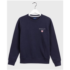 Gant Medium Shield Crew Neck Sweatshirt - Navy