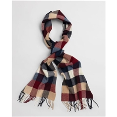 New 2020 Gant Check Wool Scarf - Port Red