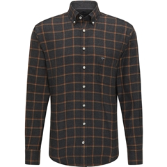 New 2020 Fynch Hatton Soft Flannel Shirt - Anthra Check