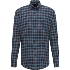 Fynch Hatton Soft Flannel Shirt - Navy