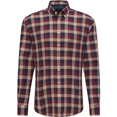 New 2020 Fynch Hatton Supersoft Shirt - Red Check