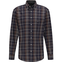 New 2020 Fynch Hatton Premium Soft Flannel Shirt - Arabica Check