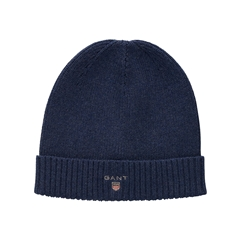 New 2020 Gant Wool Lined Beanie - Navy