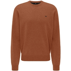 New 2020 Fynch Hatton Pure Lambswool Crew Neck Sweater - Toscana