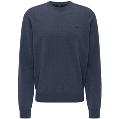New 2020 Fynch Hatton Pure Lambswool Crew Neck Sweater - Night