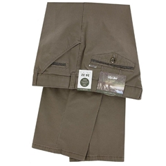 New 2020 Meyer Cotton Chino Trousers Mushroom - Chicago 5545 34