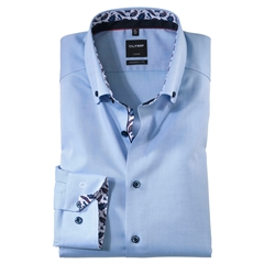 New 2020 Olymp Luxor Modern Fit Shirt - Sky Blue