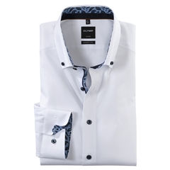 New 2020 Olymp Luxor Modern Fit Shirt - White