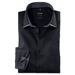 New 2020 Olymp Luxor Modern Fit Shirt - Black