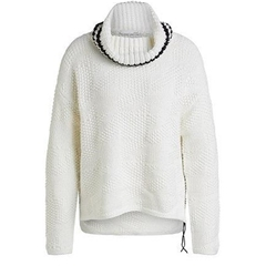 New 2020 Oui Roll Neck Jumper - White