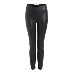 Oui Leather Look Leggings - Black