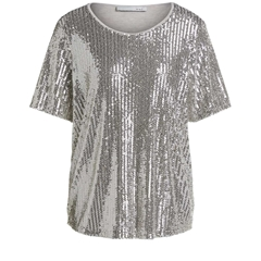 New 2020 Oui Sequin T-shirt - Silver