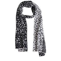 New 2020 Oui Dalmatian Scarf - Black