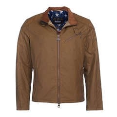 Barbour International Placer Wax Jacket - Sand