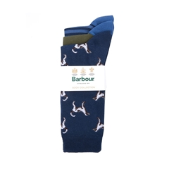 Barbour Mens Dog Socks Set - Multi - One Size