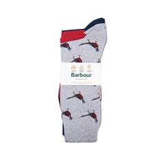 Barbour Mens Pheasant Socks Set - Multi - One Size