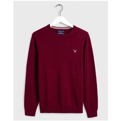 Gant Superfine Lambswool Crew - Burgundy
