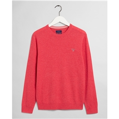 Gant Superfine Lambswool Crew - Rapture Rose