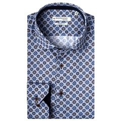 New 2020 Giordano Modern Fit Cotton Shirt - Herringbone Print on Satin