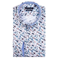 New 2020 Giordano Regular Fit Cotton Shirt - Ink Dots Pastel Colours