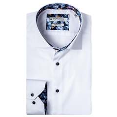 New 2020 Giordano Modern Fit Cotton Shirt - White Luxury Twill