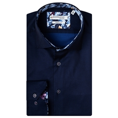 New 2020 Giordano Modern Fit Cotton Shirt - Navy Luxury Twill