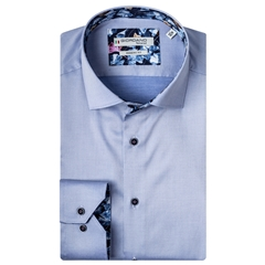 New 2020 Giordano Modern Fit Cotton Shirt - Blue Luxury Twill