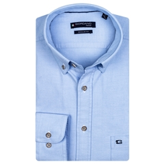 Giordano Regular Fit Soft  Cotton Shirt - Sky Blue
