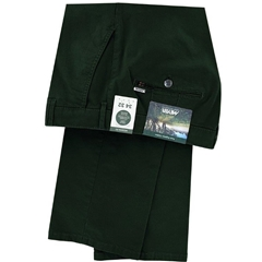 New 2020 Meyer Cotton Twill Trouser - Forest Green - Rio 3521 26