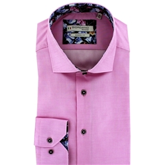 New 2020 Giordano Modern Fit Cotton Shirt - Pink Luxury Twill