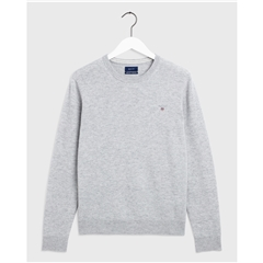 Gant Superfine Lambswool Crew - Grey