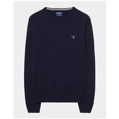 Gant Superfine Lambswool Crew - Navy