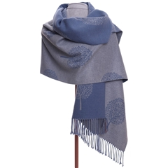 Zelly Tree Scarf - Blue