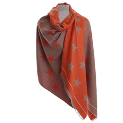 Zelly Star Scarf - Orange