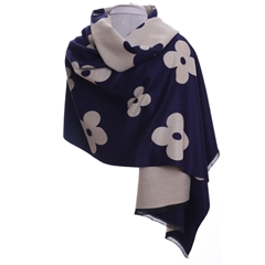 Zelly Flower Wrap - Navy