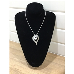 Dante Heart Necklace - Silver tone