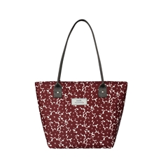 Earth Squared Oil Cloth Tote Bag - Red Flower
